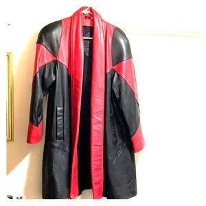 Red & Black Leather Jack